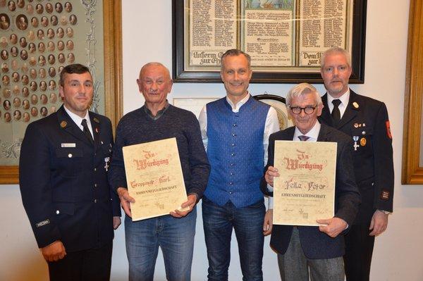 Neue Ehrenmitglieder bei der Freiwilligen Feuerwehr Friedberg e.V.